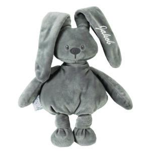personalizirana igrača, personaliziran zajček, igrača z imenom, zajček z imenom, darilo ob rojstvu., telegram ob rojstvu, nattou, lapidou, personalizacija, personalizirana darila, darilo